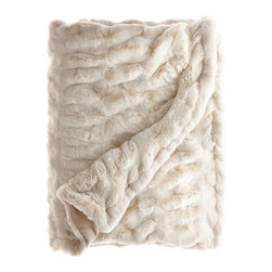 Faux Fur Throw - Cozy up in the winter with this scrumptious throw. Since it's faux, it's also cruelty and guilt free! Also, you can drape it like a cape and pretend to be a queen, or at the very least, one of the Gabor sisters.
