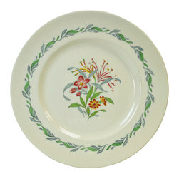 Royal Doulton Fairfield on base - Consigned 6 Large Dinner Plates with Fairfield Floral Decoration - A fine set of 6 large dinner plates with floral decoration on cream ground by Royal Doulton, Fairfield pattern; vintage English, circa 1950.