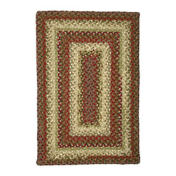 Homespice Decor LLC - Homespice Decor Spice Market Braided Rug Multicolor - 453273 - Shop for Rugs and Runners from Hayneedle.com! The Homespice Decor Spice Market Braided Rug has roasted red pepper soft green olives golden brown honey and just a touch of cream. This braided rug is a delicious blend of colors that will enhance any room in your home. These 100% cotton flat braided rugs lend color warmth and a cozy feel to any home. Made in India.Sizes offered in this rug:Following are all sizes for this rug. Please note that some may be currently unavailable due to inventory. Also please note that rug sizes may vary by up to 4 inches in dimensions listed.Dimensions:2 x 3 ft.2.3 x 4 ft.3 x 5 ft.4 x 6 ft.5 x 8 ft.6 x 9 ft.2.6. x 6 ft. Rectangle Runner2.6 x 9 ft. Rectangle Runner3 ft. Square6 ft. Square2 x 3 ft. Oval2.3 x 4 ft. Oval3 x 5 ft. Oval4 x 6 ft. Oval5 x 8 ft. Oval6 x 9 ft. Oval8 x 10 ft. Oval2.6. x 6 ft. Oval Runner2.6 x 9 ft. Oval Runner3 ft. Round6 ft. Round7.6 ft. RoundAbout Homespice Decor RugsProducing quality homemade products since 1998 Homespice Decor has become an industry leader in braided rugs (outdoor indoor wool and cotton) and has expanded its line to include penny rugs rag rugs and its newest - Supernova rugs - which feature a swirling star braid design. Formerly known as J Quilts Company Homespice Decor shifted its focus from quilts to rugs pouring itself into the intricate details of braided rug craftsmanship. Homespice Decor is committed to providing affordable braided rugs of the highest quality in an abundance of sizes and styles.