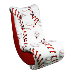 Newco International Baseball Video Rocker - Your little baseball fan will love this comfortable video rocker chair. It's great for playing video games in, but it's also a great everyday chair.