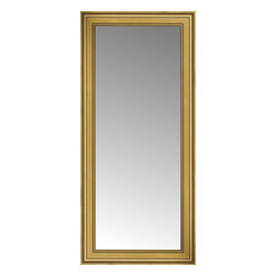 """Posters 2 Prints, LLC - 26"""" x 54"""" Arqadia Gold Traditional Custom Framed Mirror - 26"""" x 54"""" Custom Framed Mirror made by Posters 2 Prints. Standard glass with unrivaled selection of crafted mirror frames.  Protected with category II safety backing to keep glass fragments together should the mirror be accidentally broken.  Safe arrival guaranteed.  Made in the United States of America"""