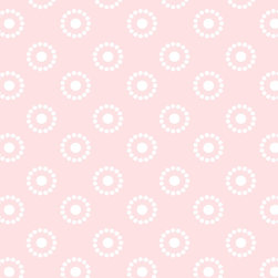 Murals Your Way - Mediterranean Baby - Circle Dots - Pink Wall Art - Painted by Simon & Kabuki, Mediterranean Baby - Circle Dots - Pink wall mural from Murals Your Way will add a distinctive touch to any room