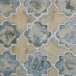arto - Winslet Pattern Arabesque (Gray Myst & Hacienda) - old & worn produced in Los Angeles California
