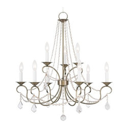 Livex Lighting Pennington Antique Brass Crystal Chandelier -