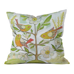 DENY Designs - Cori Dantini Community Tree Outdoor Throw Pillow - Do you hear that noise? it's your outdoor area begging for a facelift and what better way to turn up the chic than with our outdoor throw pillow collection? Made from water and mildew proof woven polyester, our indoor/outdoor throw pillow is the perfect way to add some vibrance and character to your boring outdoor furniture while giving the rain a run for its money.