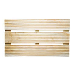 Japanese Cypress Wood Bath Mat - I'm getting tired of dealing with worn out, sopping wet bathmats — and I know I'm not the only one. Instead, I'm considering trying one of these Japanese Cypress mats. The wood is aromatic and has antibacterial properties, so it will stay fresh.