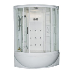 Ariel - Ariel ZAA212 Steam Shower w/ Whirlpool Bathtub 47x47x87 - These fully loaded steam showers include a whirlpool bathtub, massage jets, and built in FM Radio for Easy Listening s to help increase your therapeutic experience.