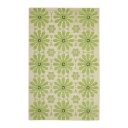 Safavieh - Kids Safavieh Kids 5'x8' Rectangle Beige-Green Area Rug - The Safavieh Kids area rug Collection offers an affordable assortment of Kids stylings. Safavieh Kids features a blend of natural Beige-Green color. Hand Tufted of Wool the Safavieh Kids Collection is an intriguing compliment to any decor.