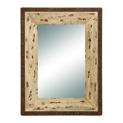Benzara - Glass Style Mirror with Rustic Wood Frame - Glass Style Mirror with Rustic Wood Frame. This looking glass style mirror is just what you are looking for to complete your foyer or hallway decoration.