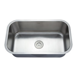 Kraus - Kraus 31 1/2 inch Undermount Single Bowl Stainless Steel Sink Combo Set - Add an elegant touch to your kitchen with unique Kraus kitchen combo