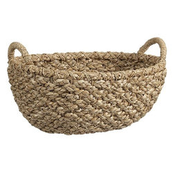 Emlyn Oval Basket - You can never have too much storage. This chunky-weave basket is perfect for keeping cozy blankets and plush pillows on hand for the next time you want to snuggle up to the fire.