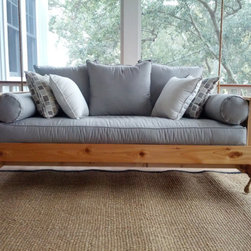 Cedar Swing Bed by Charleston Swing Beds - What a beautiful spot this would be for a nap. Put it on a porch or inside.
