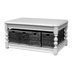 EuroLux Home - New Coffee Table Gray Painted Hardwood - Product Details
