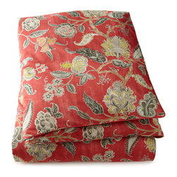 """LEGACY - King Jacobean Duvet Cover 102"""" x 96"""" - LEGACYKing Jacobean Duvet Cover 102"""" x 96""""DetailsFrom Legacy Home.Made of cotton.Dry clean.102"""" x 96"""".Made in the USA of imported material."""