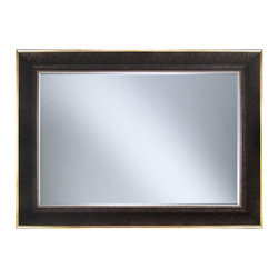"""Framed Goods - Wall Mirror 20X30 - Charcoal Rustic Gold - Mirror Details: 20""""x30""""x3/16"""" Thick - 1"""" beveled"""