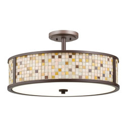 Kichler Lighting - Kichler Lighting 65381 Blythe Modern / Contemporary Semi Flush Mount Ceiling Lig - Kichler Lighting 65381 Blythe Modern / Contemporary Semi Flush Mount Ceiling Light