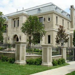 Beverly Hills, private resident - Custom windows to fit a renaissance style home in LA. Featuring custom glass work, custom entry door, turn tilt hardware and french doors. German high quality windows and doors is what Fenstermann is all about!