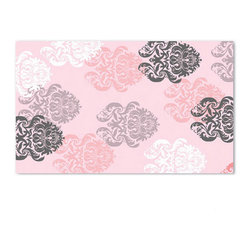 The Rug Market - Kids Brocade Pink Rectangular: 4.7 Ft. x 7.7 Ft. - - Kids Brocade Pink Rectangular: 4.7 Ft. x 7.7 Ft.  - The Rug Market America is a leader in the home accessory market with a line of highly decorative handmade area rugs for every room in the home. The key to the Rug Market?s success has been to present a designer fashion forward look suitable for everyone?s budget. The Rug Market - 12363D