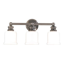 """Hudson Valley Lighting - Hudson Valley Lighting 2303 Three Light 21"""" Wide Bathroom Fixture from the River - *Riverton Collection 3 Light Wall Sconce Vintage in style and classic for all decors 21"""" W x 10"""" H x 6 3/4"""" E 3-100w Medium Base (Not Included)"""