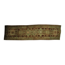 3'x13' Semi Antique Persian Heriz Soft Colors Hand Knotted Rug SH16431 - This collections consists of well known classical southwestern designs like Kazaks, Serapis, Herizs, Mamluks, Kilims, and Bokaras. These tribal motifs are very popular down in the South and especially out west.
