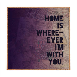 Leah Flores With You Framed Wall Art - Bamboo frame with high gloss print