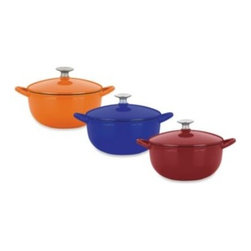 Mario Batali - Mario Batali by Dansk Classic 3-Quart Soup Pot - Mario Batali Classic Cookware offers even distribution of heat without hot spots and excellent heat retention. Lid ensures continuous natural basting. Durable enamel on cast iron requires no seasoning and is easy to clean. Perfect for simmering your favor