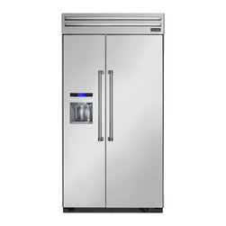 """Thermador 42"""" Built In Side By Side Refrigerator, Stainless Steel 