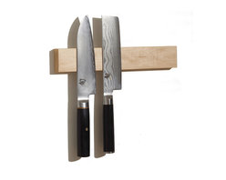"""M.O.C. Woodworks - M.O.C. Board 12"""" Maple, Magnetic Knife Holder - Storage solutions are always welcome, especially if they save you valuable time and space. This handy tool, made from furniture grade hardwood, lets you hang knives, scissors, kitchen tools and other metallic objects on its trim, 12-inch long surface. For piece of mind, its hand-rubbed finish is nontoxic and food safe. (Available in cherry, maple, walnut, lacewood, wenge and zebra wood.)"""