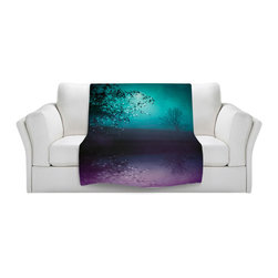 DiaNoche Designs - Throw Blanket Fleece - Monika Strigel Song of the Midnight Bird - Original Artwork printed to an ultra soft fleece Blanket for a unique look and feel of your living room couch or bedroom space.  DiaNoche Designs uses images from artists all over the world to create Illuminated art, Canvas Art, Sheets, Pillows, Duvets, Blankets and many other items that you can print to.  Every purchase supports an artist!