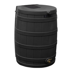 Good Ideas - Rain Wizard 40-gallon Rain Barrel - The Rain Wizard 40 can provide 40 gallons of pure,unchlorinated water to your plants when your town is short on water. The Rain Wizard features an attractive faux oak barrel design so it naturally fits in with your landscape.