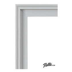 EnduraClad® Exterior Finish in Morning Sky Gray - Available on Pella Architect Series® and Designer Series® wood windows and patio doors, EnduraClad exterior finishes offer 27 standard and virtually unlimited custom color options.