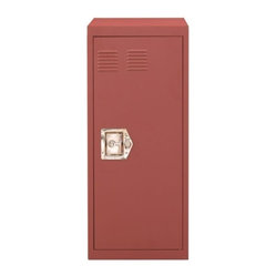 Stack-H Metal Cabinet 1 Door, Antique Dark Pink