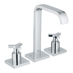 "Grohe - Grohe Allure Widespread Bathroom Faucet with SilkMove Technology - Product Features:Faucet body constructed of solid brassCovered under Grohe's limited lifetime warrantyGrohe faucets are exclusively engineered in GermanyFinishes will resist corrosion and tarnishing through everyday use - finish covered under lifetime warrantyPressure resistant flexible connection hosesDouble handle operation - handles rest on 1/4 turn valvesLow lead compliant - meeting federal and stat regulations for lead contentDesigned for use with standard U.S. plumbing connectionsProduct Technologies / Benefits:Starlight Finish: Continuously improving over the last 70 years Grohe�s unique plating process has been refined to produce and immaculate shiny surface that is recognized as one of the best surface finishes the world over. Grohe plates sub layers of copper and/or nickel to ensure that a completely non-porous, immaculate surface awaits the chrome layer. This deep, even layered chrome surface creates a luminous and mirror like sheen.SilkMove Cartridge: The rich and smooth handling of our single lever faucets conveys pure quality. As you change the temperature from hot to cold, one ceramic disc glides effortlessly across the other with absolute precision. These cartridges are manufactured in a high-tech process and feature discs made from a space-proven ceramic alloy. The SilkMove cartridge is yet another example of design and technology fusing to bring you an enhanced water experience.Product Specifications:Overall Height: 9-1/16"" (measured from counter top to the highest part of the faucet)Spout Height: 7-1/2"" (measured from the counter top to the spout outlet)Spout Reach: 6-5/16"" (measured from the center of the faucet base to the center of the spout outlet)Installation Type: WidespreadNumber of Holes Required for Installation: 3Faucet Centers (Distance Between Handle Installation Holes: 6-5/16""-22-7/16"" (Adjustable)Flow Rate: 2.2 GPM (gallons-per-minute)Maximum Deck Thickness: 1-3/16""2 handles included with faucetVariations:20 148: This Model19 300: Wall-mounted version of this model20 191: Widespread version of this model with lever handles23 077: Single hole version of this modelAbout Grohe:At Grohe, design goes deeper than just aesthetic trappings. It is a quality feature and is targeted toward the perfect synthesis of form and function. The result is joyous experience you have every time you use one of their products. Grohe subscribes to a straight forward and consumer-centric design philosophy; grounded in the belief that good design must transcend form and function to create an emotional bond with its users. With a reputation built on performance and longevity, Grohe products are sure to surprise and delight users with every interaction for years of unsurpassed performance. With Grohe�s specialist knowledge it is second to none as they continue to push boundaries, challenge pre-conceptions and create new and exciting ways for their customers to enjoy water."