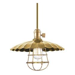 Hudson Valley Lighting - Hudson Valley Lighting 9001-AGB-MM3-WG Heirloom Aged Brass Pendant - Hudson Valley Lighting 9001-AGB-MM3-WG Heirloom Aged Brass Pendant