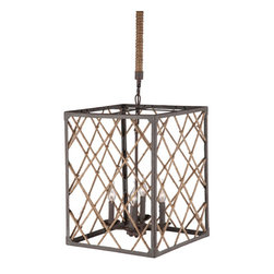 Zuo Era - Shale Ceiling Lamp - The Shale Ceiling Lamp Twine & Iron Zuo Modern was created to meld classic style with modern industrial strength. This stunning light would complement any style of decor!