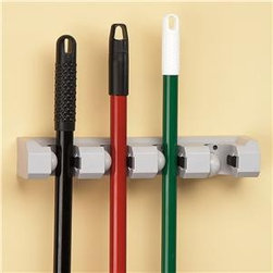 Sure-Grip Tool Holder - Keep your brooms and mops standing upright and ready to clean with this handy tool holder.