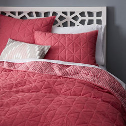Nomad Coverlet, Lotus Pink - I love the shade of this pink coverlet by West Elm.  It's definitely juicy enough for Valentine's Day.