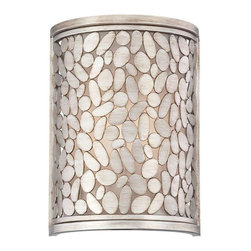 World Imports - Amano 1-Light Wall Sconce, Silver - Washed antique silver framework
