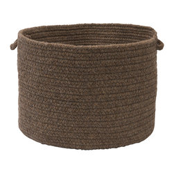 "Colonial Mills, Inc. - Sedona, Gray Utility Basket, 18""X12"" - Hold everything. This textural handled basket will help you hold, hide and haul just about everything. Durable and adorable, the braided polyester and wool in livable, earthy gray is sure to look great in your living room, bedroom or anywhere you need a little stylish storage."