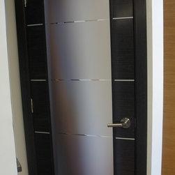 Avanti Vetro Interior Door Black Apricot Finish - Avanti Vetro  - Black Apricot Finish