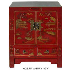 Modern Side Tables And Accent Tables by Golden Lotus Antiques