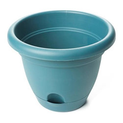 Bloem - Bloem 8in Lucca Planter Turbulent LP0848, 12 pack - Convenient self watering feature