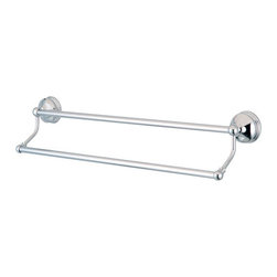 """Kingston Brass - BA116318C Vintage 18"""" Dual Towel Bar, Chrome - Vintage Collection, Fabricated from solid brass material for durability and reliability, Premium color finish resist tarnishing and corrosion, Easy to install, Matching collection available, One Year Limited Warranty to the original consumer to be free from defects in material and finish.; Polished Chrome Finish; 18"""" Dual Towel Bar; High Quality Brass Construction; Design to hold up to 20 Lbs; Coordinates Perfectly With Vintage Collection; Material: Brass; Finish: Polished Chrome; Collection: Vintage"""
