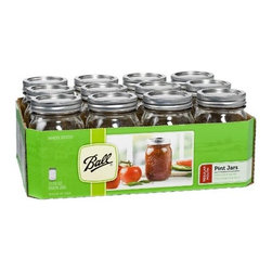 Ball Regular Mouth Jars with Lids and Bands - The possibilities for organization are endless with a case of mason jars. You can do anything from organizing pencils, pens, crayons and markers to organizing chopped lettuce for a week of lunches.