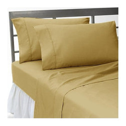SCALA - 300TC Solid King Size Beige Color Fitted Sheet With Two Pillow Cases - We offer supreme quality Egyptian Cotton bed linens with exclusive Italian Finishing. These soft, smooth and silky high quality and durable bed linens come to you at a very low price as these come directly from the manufacturer. We offer Italian finish on Egyptian cotton, which makes this product truly exclusive, and owner's pride. It's an experience and without it you are truly missing the luxury and comfort!!