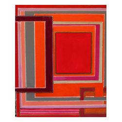 Bryan Boomershine Art - Graphic Orignial Paintings - Title: Red Lines 001