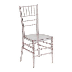 Flash Furniture - Flash Furniture Elegance Stacking Chiavari Chair in Crystal Pink - Flash Furniture - Dining Chairs - BHPINKCRYSTALGG - If you've been to a wedding chances are you've sat in a Chiavari chair. Chiavari Chairs have become a classic in the event industry and are also highly popular in high profile entertainment events. This chair is used in all types of elegant events due to its lightweight stacking capabilities and elegant design. Keep your guests comfortable with optional cushions and keep your chairs beautiful with chair covers.