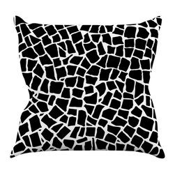 "Kess InHouse - Project M ""British Mosaic Black"" Throw Pillow (18"" x 18"") - Rest among the art you love. Transform your hang out room into a hip gallery, that's also comfortable. With this pillow you can create an environment that reflects your unique style. It's amazing what a throw pillow can do to complete a room. (Kess InHouse is not responsible for pillow fighting that may occur as the result of creative stimulation)."