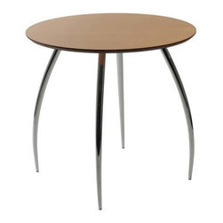 "Eurostyle - Eurostyle Bistro 30 Inch Round Dining Table in Natural w/ Chromed Legs - 30 Inch Round Dining Table in Natural w/ Chromed Legs belongs to Bistro Collection by Eurostyle True to its name, the Bistro table is right at home wherever people gather for drinks, snacks and good times. A 30"" diameter lacquered top is just right for conversation and easy maintenance. Dining Table (1)"
