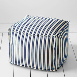 Four Square Boating Stripe Ottoman - Plop your feet on this ottoman. It's also great for extra seating.